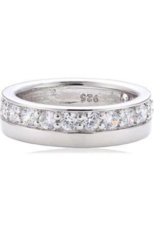 MERII Damen-Ring 925 Sterlingsilber rhodiniert Zirkonia weiß Gr. 56 (17.8) M0418R/90/03/56