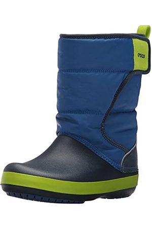 Crocs Unisex-Kinder Schneestiefel Schneestiefel Lodgepoint Snow Boots, Blau (Blue Jean/navy)