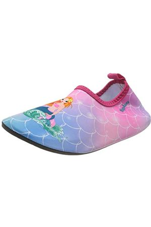 Playshoes Unisex-Kinder UV-Schutz Barfuß Meerjungfrau Aqua Schuhe, Pink (Pink 18)