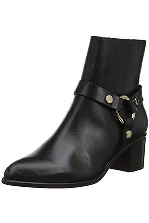 Dune Damen Pipkin Kurzschaft Stiefel, (Black-Leather Black-Leather)