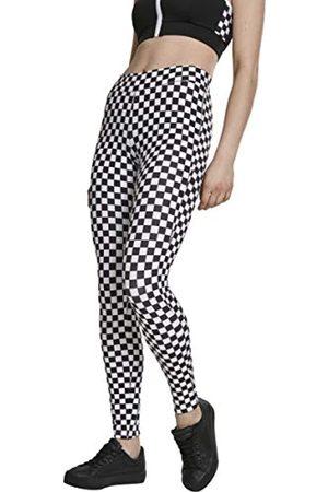 Urban classics Damen Leggings mit Schachbrettmuster,Schwarz/Weiß