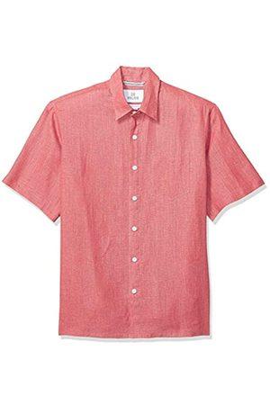 28 Palms Amazon-Marke: Kurzarm-Hemd für Herren, mit bequemer Passform, aus 100 % Leinen