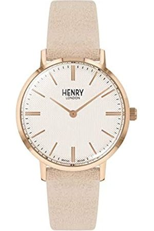 Henry Unisex Erwachsene Analog Quarz Uhr mit Leder Armband HL34-S-0342