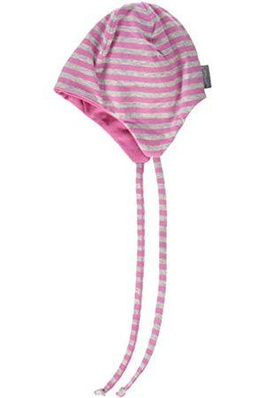 Sterntaler Wende-Mütze für Mädchen mit Streifenmuster, Alter: 9 Monate, Größe: 45, Farbe: Weiß