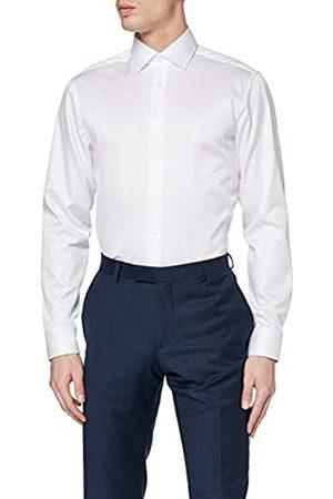 Seidensticker Herren Einfarbiges Hemd Mit Einem Kent-Kragen Und Struktur – Regular Fit – Langarm - Blickdicht Businesshemd