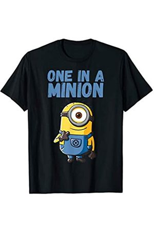Minions One In A Minion Blue Minion Drawing T-Shirt