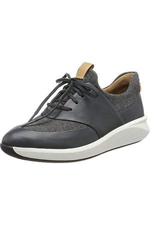 Clarks Damen Un Rio Lace Sneaker, (Dark Grey)