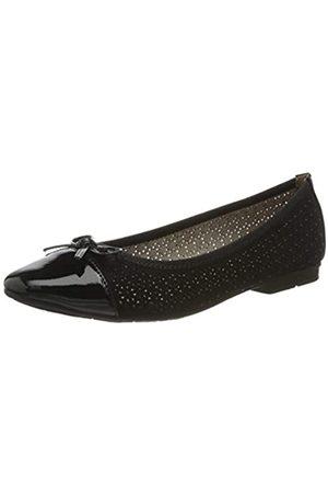 Jana 100% comfort Damen 8-8-22111-24 Geschlossene Ballerinas, (Black 001)