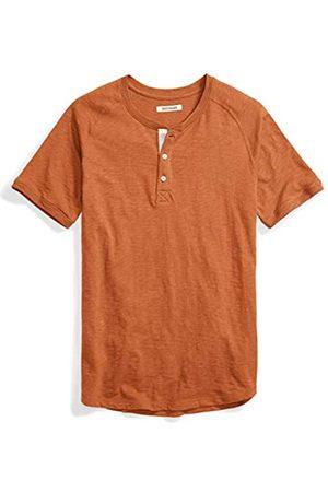 Goodthreads Herren T-Shirts - Amazon-Marke: Herren Henley-Shirt, Kurzarm, leicht, aus Slub-Baumwolle