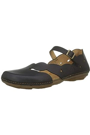 El Naturalista Damen N5224 Soft Grain Mary Jane Halbschuhe, (Black Black)