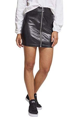 Urban classics Damen Ladies Faux Leather Zip Skirt Rock