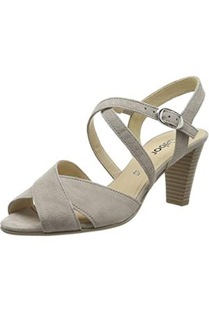 Gabor Shoes Damen Fashion Riemchensandalen, (Visone 12)