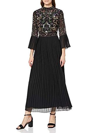 Frock and Frill Damen Joy Pleated Sleeve and Skirt Embellished Midi Dress cocktailkleid