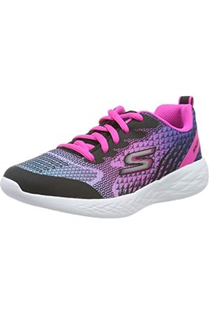 Skechers Girls' GO RUN 600-BRIGHT SPRINTS Trainers, Black (Black & Multi Mesh/Trim Bkmt)