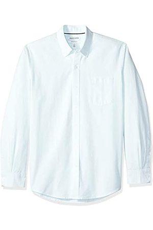 Amazon Herren-Oxford-Shirt, Langarm, reguläre Passform, gestreift