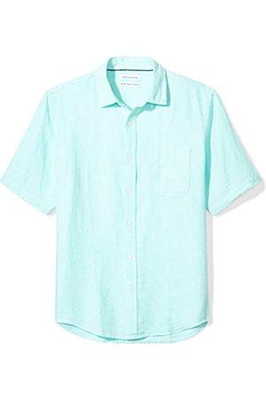 Amazon Herren-Hemd, Kurzarm, reguläre Passform, aus Leinen