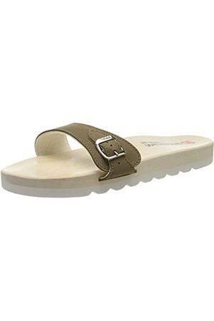 Berkemann Unisex-Erwachsene City O-Sandale Pantoletten, (Khaki 497)