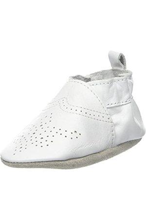 Robeez Unisex Baby Chic & Smart Krabbelschuhe, (Blanc)