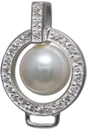 Melina Damen-Charm Basisanhänger Perle Zirkonia 925 Sterling Silber 1800597