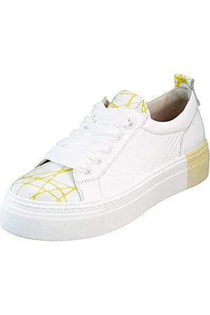 Gabor Shoes Damen Jollys Sneaker, (Weiss/Lemon 93)