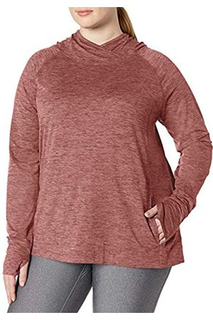 Amazon Plus Size Brushed Tech Stretch Popover Hood fashion-hoodies, Wild Ginger Space Dye