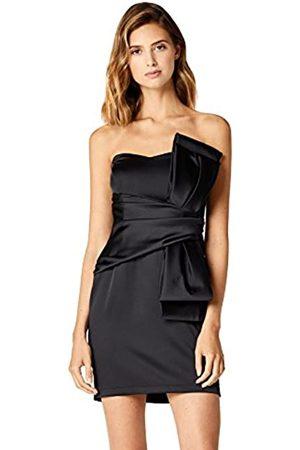 TRUTH & FABLE Amazon-Marke: Damen Schulterfreies Mini-Kleid aus Satin, 46