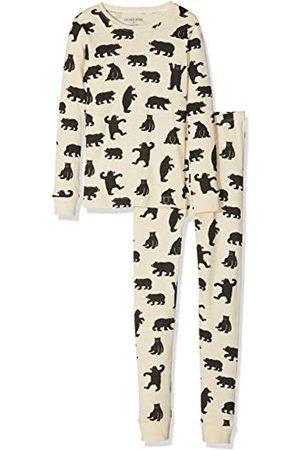 Hatley Kinder Zweiteiliger Schlafanzug Kids Pj Set (Ovl) - Black Bears On Natural