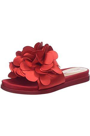 Fornarina Damen Flower1 Peeptoe Sandalen, (Rosso)