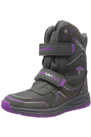 KangaROOS Unisex-Kinder K-Plush RTX Schneestiefel, (Steel Grey/Purple 2111)