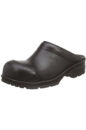 Sanita Workwear Unisex-Erwachsene San-Duty Open-SB Clogs, (Black 2)