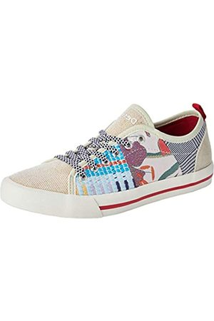Desigual Damen Shoes Alpha Patch Sneaker, (Cream 1011)