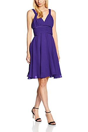Astrapahl Damen Cocktail Kleid mit hochwertigem Chiffon, Knielang, Einfarbig