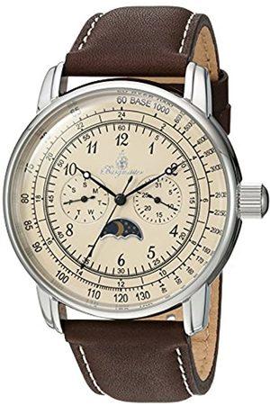 Burgmeister Armbanduhr für Herren mit Analog-Anzeige, Quarz-Uhr und Lederarmband - Wasserdichte Herrenuhr mit zeitlosem
