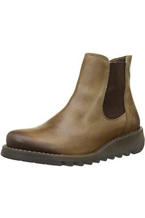 Fly London Damen Salv Chelsea Boots, (Camel)