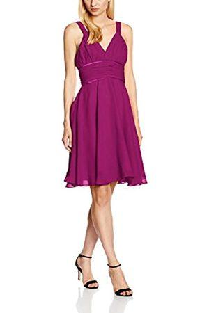 Astrapahl Damen Cocktail Kleid mit hochwertigem Chiffon, Knielang, Einfarbig, Gr. 36