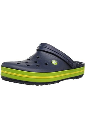 Crocs Unisex-Erwachsene Crocband U' Clogs, Blau (Navy/Volt Green/Lemon)