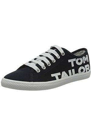 TOM TAILOR Damen 8091003 Sneaker, Mehrfarbig (Navy-White 00035)
