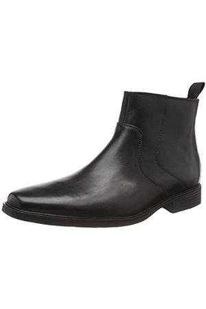 Clarks Herren Tilden Up Chelsea Boots, (Black Leather Black Leather)