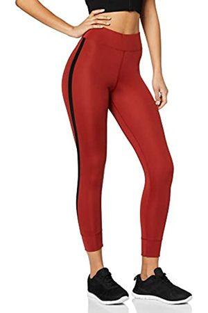 AURIQUE Amazon-Marke: Damen 7/8-Sportleggings mit Seitenstreifen, 38