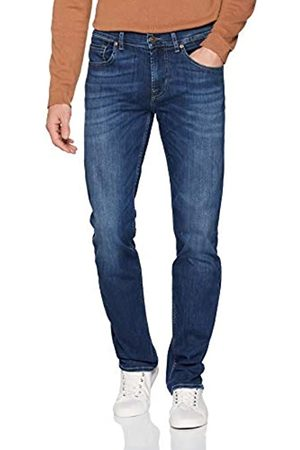 7 for all Mankind Seven for all Mankind International SAGL Herren Slimmy Slim Jeans, (NY Mid Used 0MX)