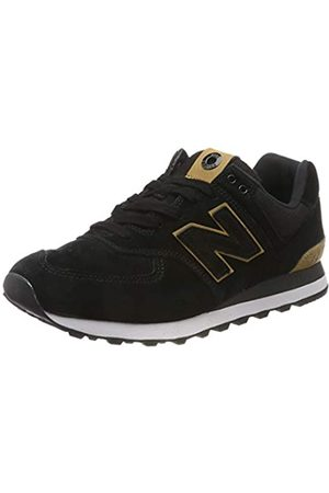 New Balance Herren 574v2 Sneaker, (Black/Yellow Black/Yellow)