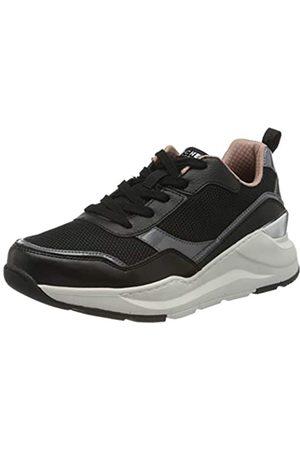 Skechers Damen ROVINA CLEAN Sheen Sneaker, (Black Mesh/Leather/Durapatent Trim BLK)