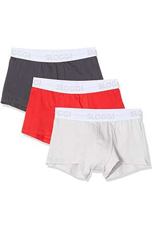 Sloggi For men Herren Go Hipster Boxershorts, (Red-Dark Combination M006)