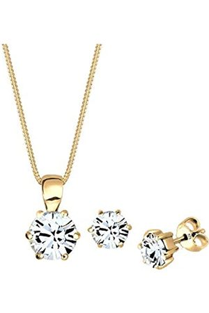 Elli Schmuckset Damen mit Swarovski® Kristallen in 925 Sterling Silber 45 cm lang