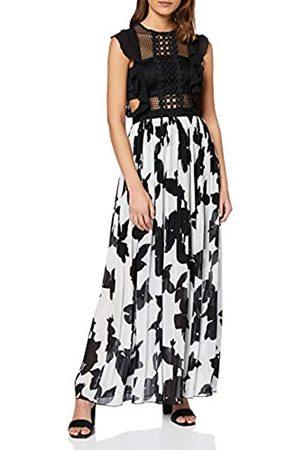 Apart Damen Long Printed Mesh Dress Partykleid