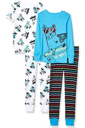 Spotted Zebra 4-Piece Snug-Fit Cotton Pajama Set