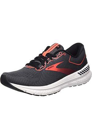 Brooks Damen Transcend 7 Running Schuh, (Black/Ebony/Coral)