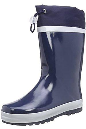 Playshoes Kinder Gummistiefel aus Naturkautschuk, warme Unisex Regenstiefel mit Innenfutter, (marine 11)