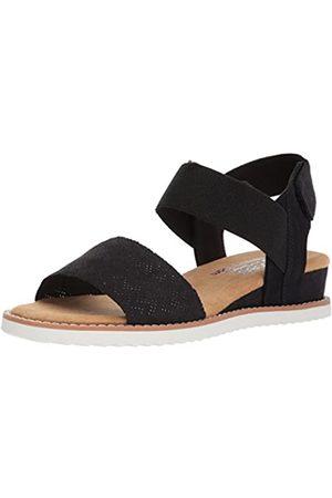 Skechers Damen Desert Kiss Flache Sandale, (Black Blk)