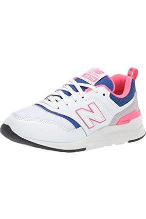 New Balance Unisex-Kinder 997H Sneaker, (White/Laser Blue)